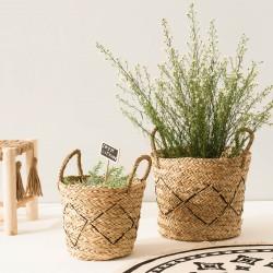 Lot de 3 paniers Seagrass INTÉRIEUR NOMADE - Beige