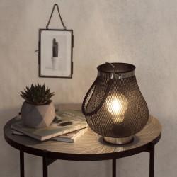Lanterne goutte en métal à ampoule D18 - Noir