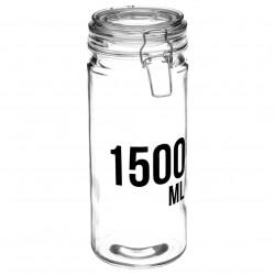 Bocal en verre capacité 1500mL - Transparent