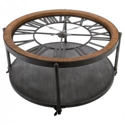 Table basse pendule en métal CHRONO - Noir