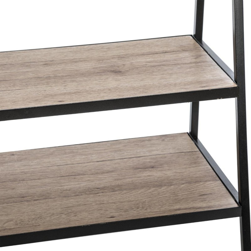 porte manteaux d 39 entr e avec 2 tag res jano noir veo shop. Black Bedroom Furniture Sets. Home Design Ideas