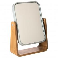 Miroir rotatif en bambou NATUREO - Blanc