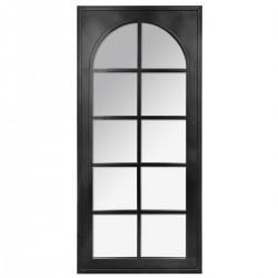 Miroir industriel en métal 112X52cm RETRO FACTORY - Noir