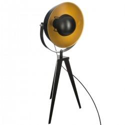 Lampe parabole sur trépied H58cm TIPO - Noir