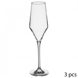 Lot de 3 flutes à champagne 22cL CLARILLO - Transparent