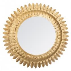 Miroir feuilles d'or en métal D70 SPIRITUAL HOME - Doré
