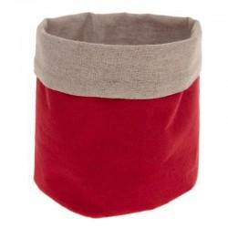 Panier multi usage D15cm - Rouge et lin