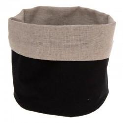 Panier multi usage D15cm - Noir et lin