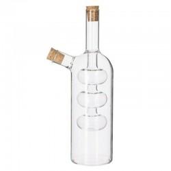 Bouteille pour huile et vinaigre H21cm DESIGN - Transparent