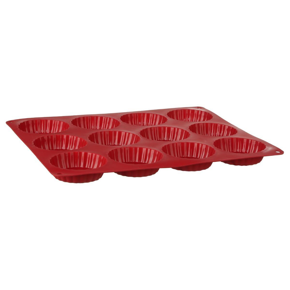 Moule A Tartelette Professionnel moule à 12 tartelettes en silicone professionnel - rouge