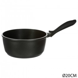 Casserole D20cm en fonte d'aluminium AUTHENTIC - Noir