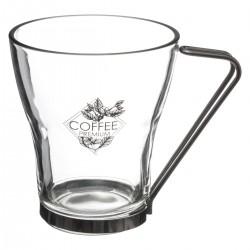 Lot de 3 tasses 23cL avec anse en métal COTÉ CAFÉ - Transparent