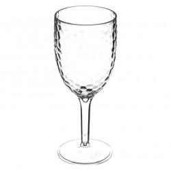 Lot de 4 verres à pied 35cL en plastique ESTIVA - Transparent