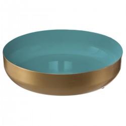 Coupelle en métal BLUSH LIVING - Bleu et doré
