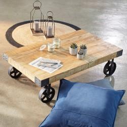 Table basse à roulettes COLLECT' MOMENTS - Bois