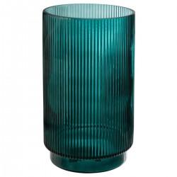 Vase cylindre en verre H25cm LA DOLCE VITA - Vert foncé