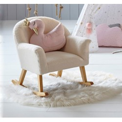 Tabouret mouton pour enfant - Blanc