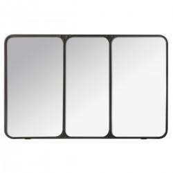 Miroir triptyque d'atelier en métal 45x70cm CHIC FACTORY - Noir