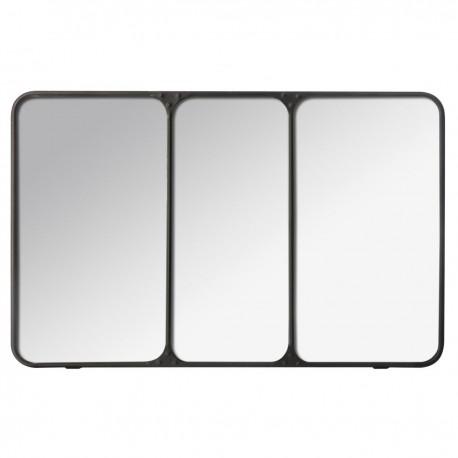 Miroir triptyque d\'atelier en métal 45x70cm CHIC FACTORY - Noir - Veo shop