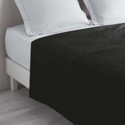 Drap plat 180X290cm (1pers) LINA - Noir