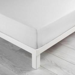 Drap housse en coton 140X190cm LINA - Blanc