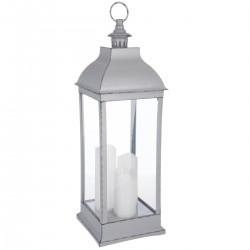 Lanterne antique à LED H71cm - Gris