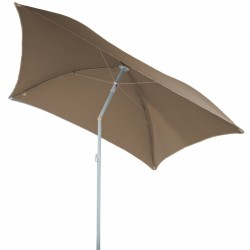 Parasol de plage carré 170cm HELENIE - Taupe