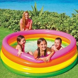 Piscine pour enfant D168cm SUNSET GLOW, INTEX - Multicolore