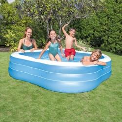 Piscine hublot carrée pour enfant INTEX - Bleu
