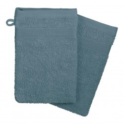 Lot de 2 gants de toilette 450g/m² 21X15cm - Orage