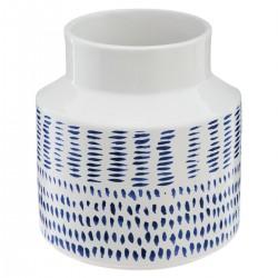 Vase en céramique à motifs D15cm OCÉAN - Blanc