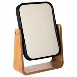 Miroir rotatif en bambou NATUREO - Noir