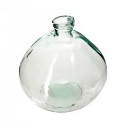 Vase rond en verre recyclé D23cm - Transparent