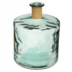 Vase épaule en verre recyclé H45cm - Vert