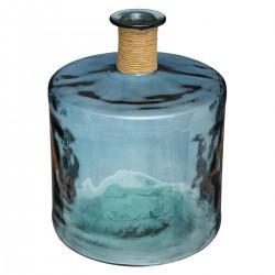 Vase épaule en verre recyclé H45cm - Bleu