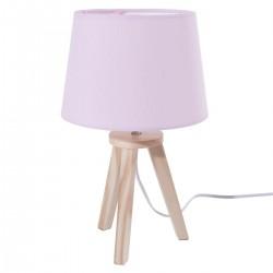 Lampe pour enfant à 3 pieds en bois ATTRAPE RÊVES - Rose