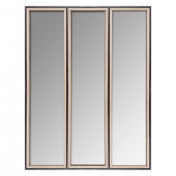 Miroir en métal H90cm TINA - Marron