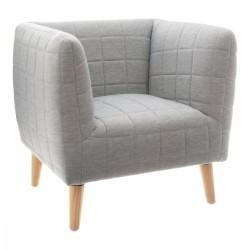 Fauteuil molletonne SWAGGY - Gris