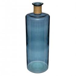 Vase épaule en verre recyclé H75cm - Bleu