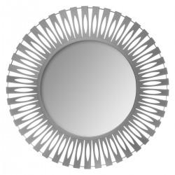 Miroir découpe en métal D89cm NOLA - Gris