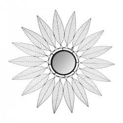 Miroir feuilles en métal D91cm NIKI - Noir