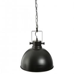 Suspension ronde en métal D30cm BASALT, THE COLONIAL FACTORY - Noir