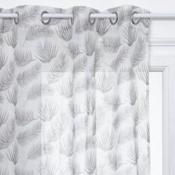 Voilage à plumes 240X140cm FRED, THE COLONIAL FACTORY - Blanc motif gris
