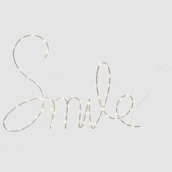 Décoration lumineuse smile 70 LED chaud COSY'NESS - Blanc