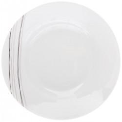 Assiette creuse ronde D20cm LIGNES - Blanc