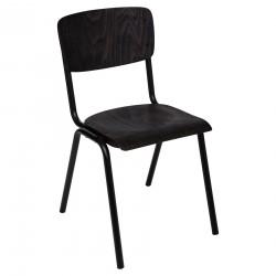 Chaise d'écolier KIEL, THE COLONIAL FACTORY - Noir effet bois