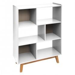 Étagère en bois à 6 cases ELVA, COSY'NESS - Blanc
