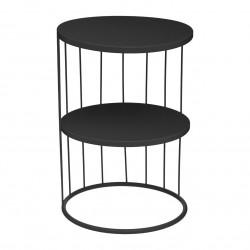 Table d'appoint KOBU, ARCHI FÉMININ - Noir