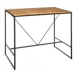 Table à dîner bar 115X70cm EDENA - Noir