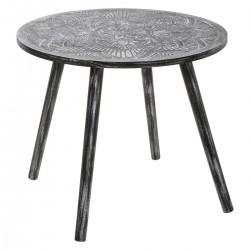 Table à café mandala TERRE SAUVAGE - Noir